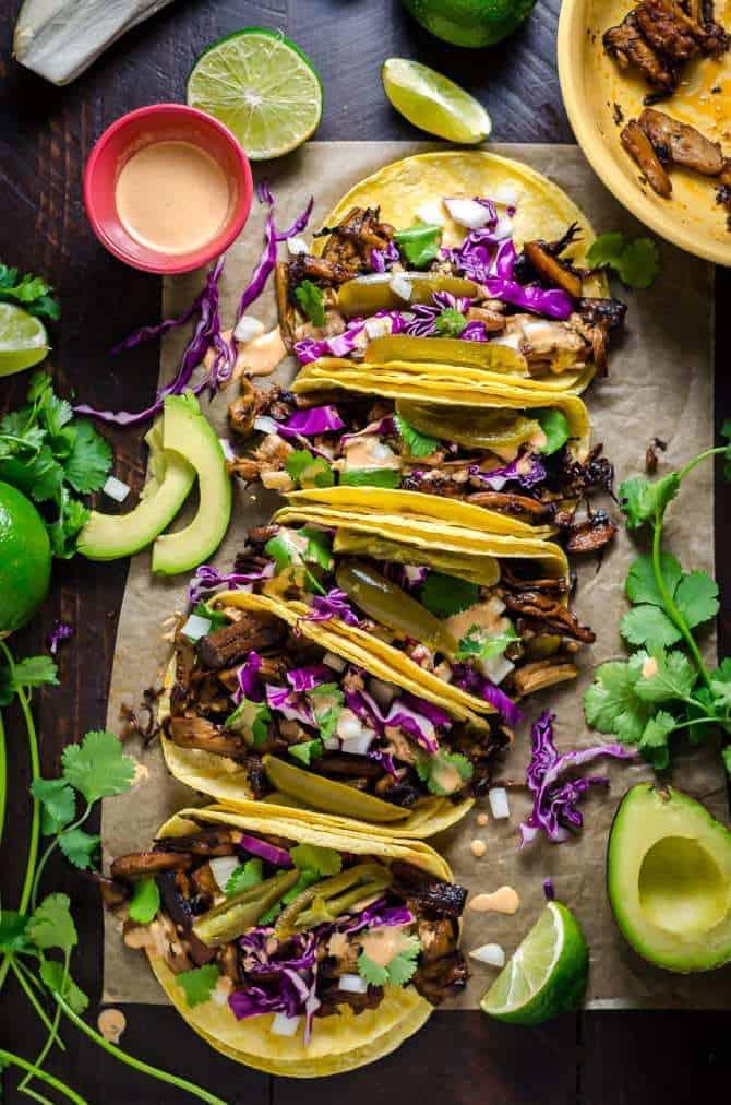 Oyster Mushroom Carnitas Tacos
